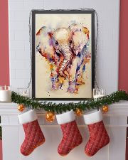 Baby Elephant Art Watercolor Poster SKY 16x24 Poster lifestyle-holiday-poster-4