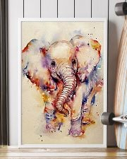 Baby Elephant Art Watercolor Poster SKY 16x24 Poster lifestyle-poster-4