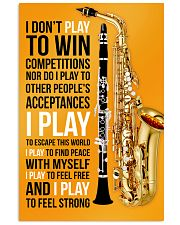 5 SAXOPHONE AND CLARINET - I DON'T PLAY TO WIN 11x17 Poster front