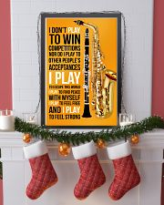 5 SAXOPHONE AND CLARINET - I DON'T PLAY TO WIN 11x17 Poster lifestyle-holiday-poster-4