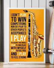 5 SAXOPHONE AND CLARINET - I DON'T PLAY TO WIN 11x17 Poster lifestyle-poster-4