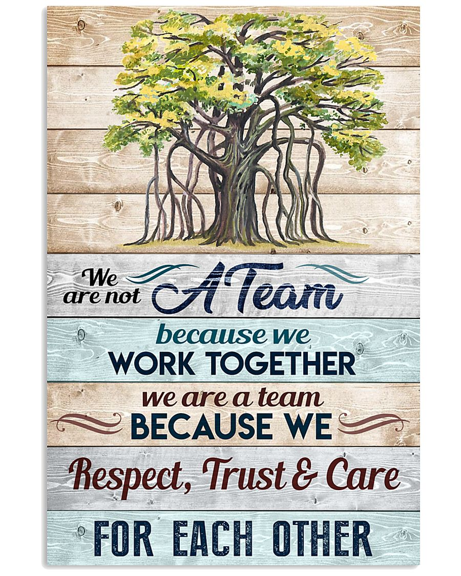 We are not a Team Poster 11x17 Poster