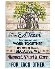 We are not a Team Poster 11x17 Poster front