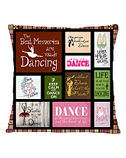 GRANDDAUGHTER WE HUGGED THIS LITTLE PILLOW Square Pillowcase back