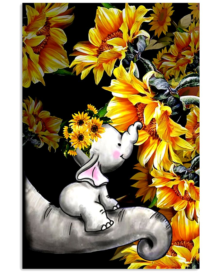 ELEPHANT SUNFLOWER POSTER 11x17 Poster