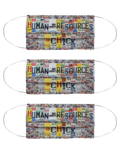 human resources chick license plates mask
