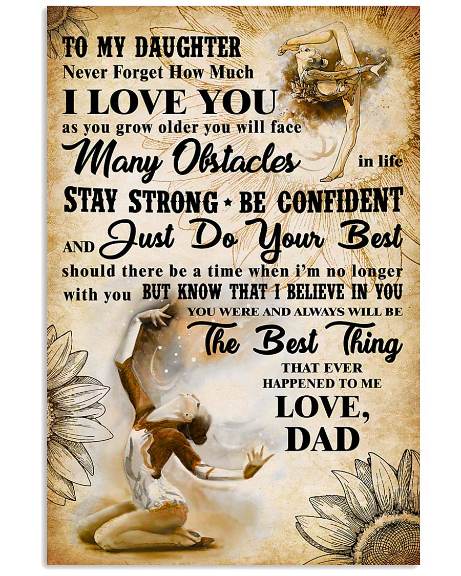 TO MY DAUGHTER - I LOVE YOU- Gymnastics 2 11x17 Poster