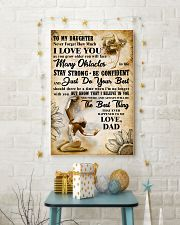 TO MY DAUGHTER - I LOVE YOU- Gymnastics 2 11x17 Poster lifestyle-holiday-poster-3