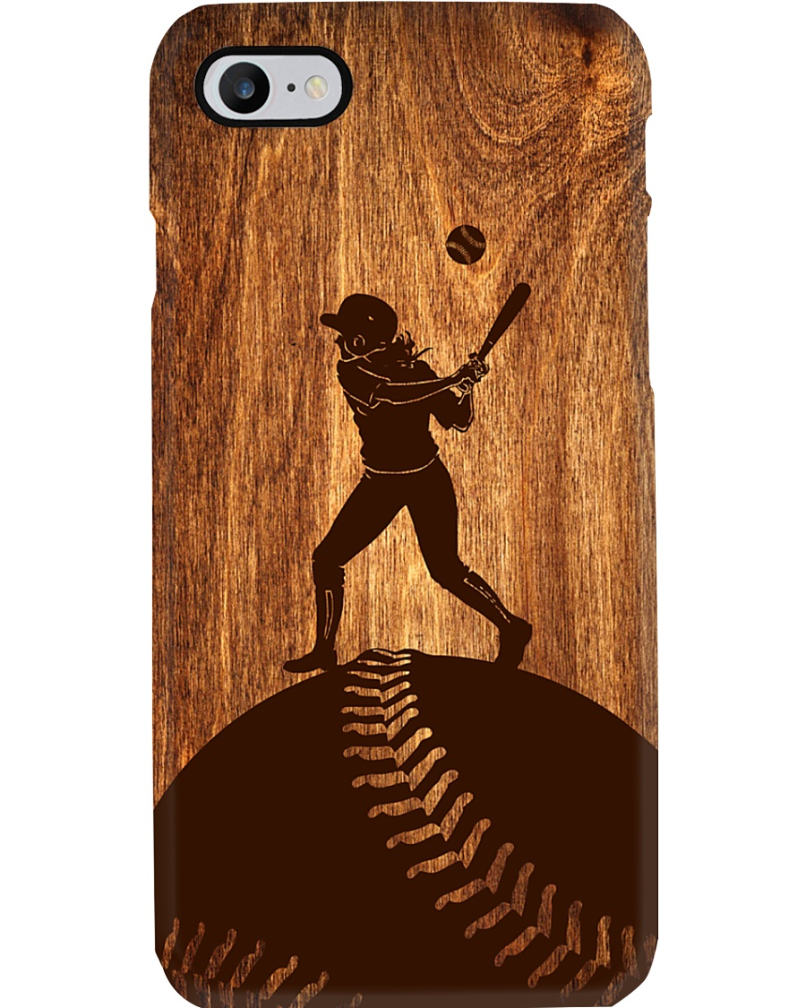 Softball - Natural texture wood Phone Case Phone Case