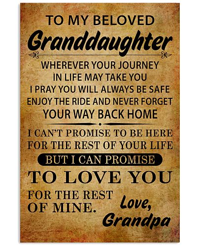TO MY BELOVED GRANDDAUGHTER GRANDPA