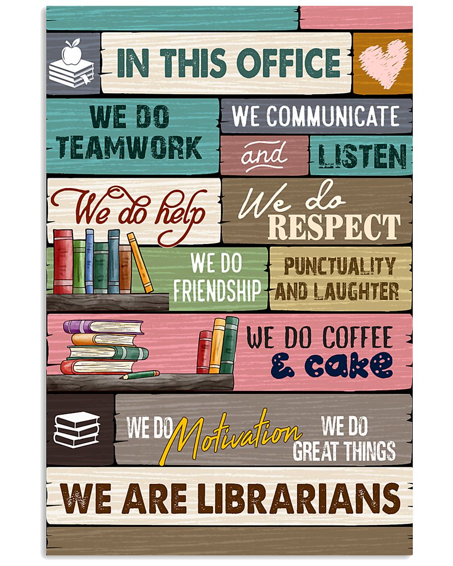 IN THIS OFFICE - WE ARE LIBRARIANS 11x17 Poster
