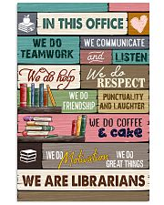 IN THIS OFFICE - WE ARE LIBRARIANS 11x17 Poster front