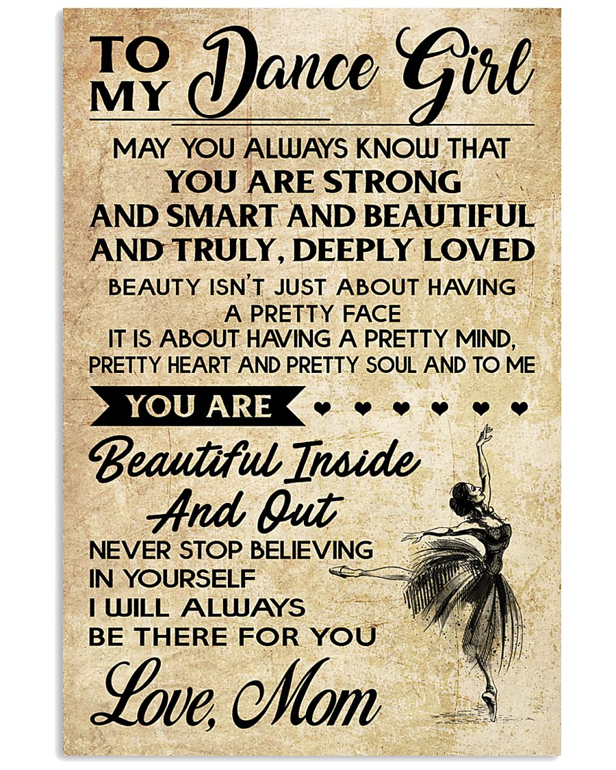TO MY Dance GIRL - MOM 16x24 Poster