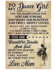 TO MY Dance GIRL - MOM 16x24 Poster front