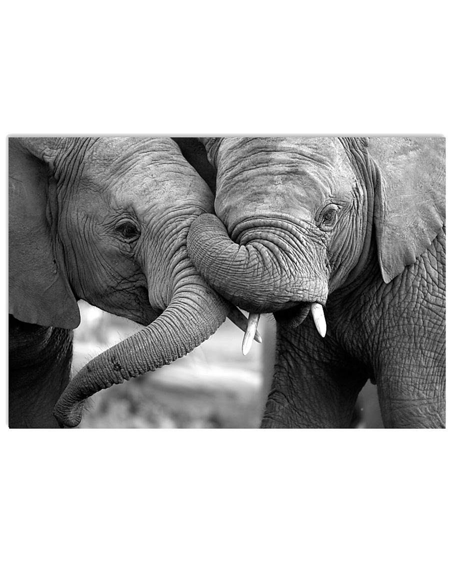 Elephant Mom And Son Poster - TL 17x11 Poster