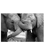 Elephant Mom And Son Poster - TL 17x11 Poster front