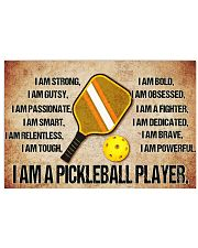 9 Pickleball I Am Poster paddle bal KD SKY 17x11 Poster front