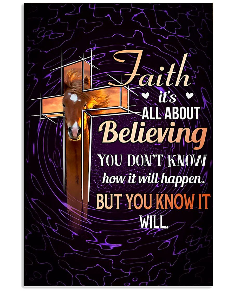 HORSE - FAITH IT'S ALL ABOUT BELIEVING 11x17 Poster
