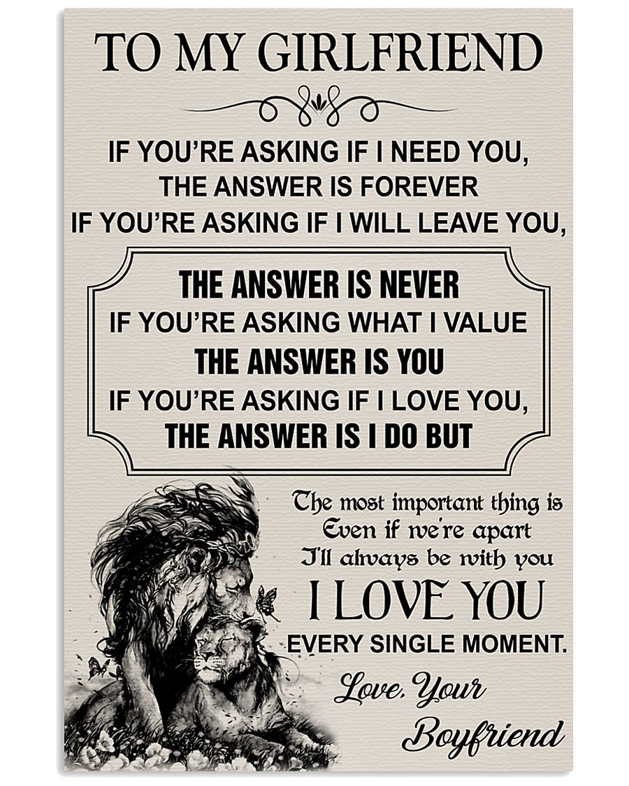 TO MY GIRLFRIEND - I LOVE YOU 16x24 Poster