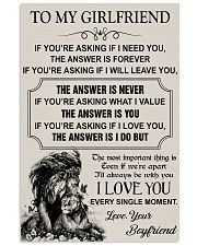 TO MY GIRLFRIEND - I LOVE YOU 16x24 Poster front