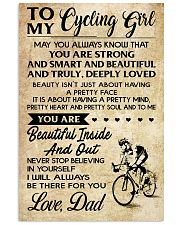 TO MY cycling GIRL- DAD 16x24 Poster front