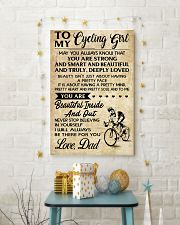 TO MY cycling GIRL- DAD 16x24 Poster lifestyle-holiday-poster-3
