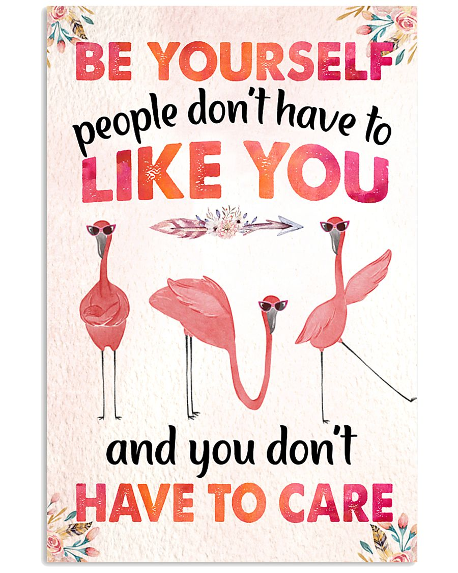 003 Flamingo - Be Yourself Poster STAR 11x17 Poster