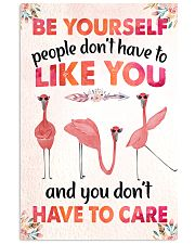 003 Flamingo - Be Yourself Poster STAR 11x17 Poster front