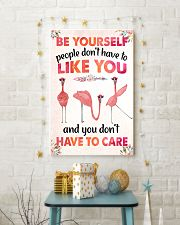 003 Flamingo - Be Yourself Poster STAR 11x17 Poster lifestyle-holiday-poster-3