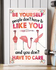 003 Flamingo - Be Yourself Poster STAR 11x17 Poster lifestyle-poster-4