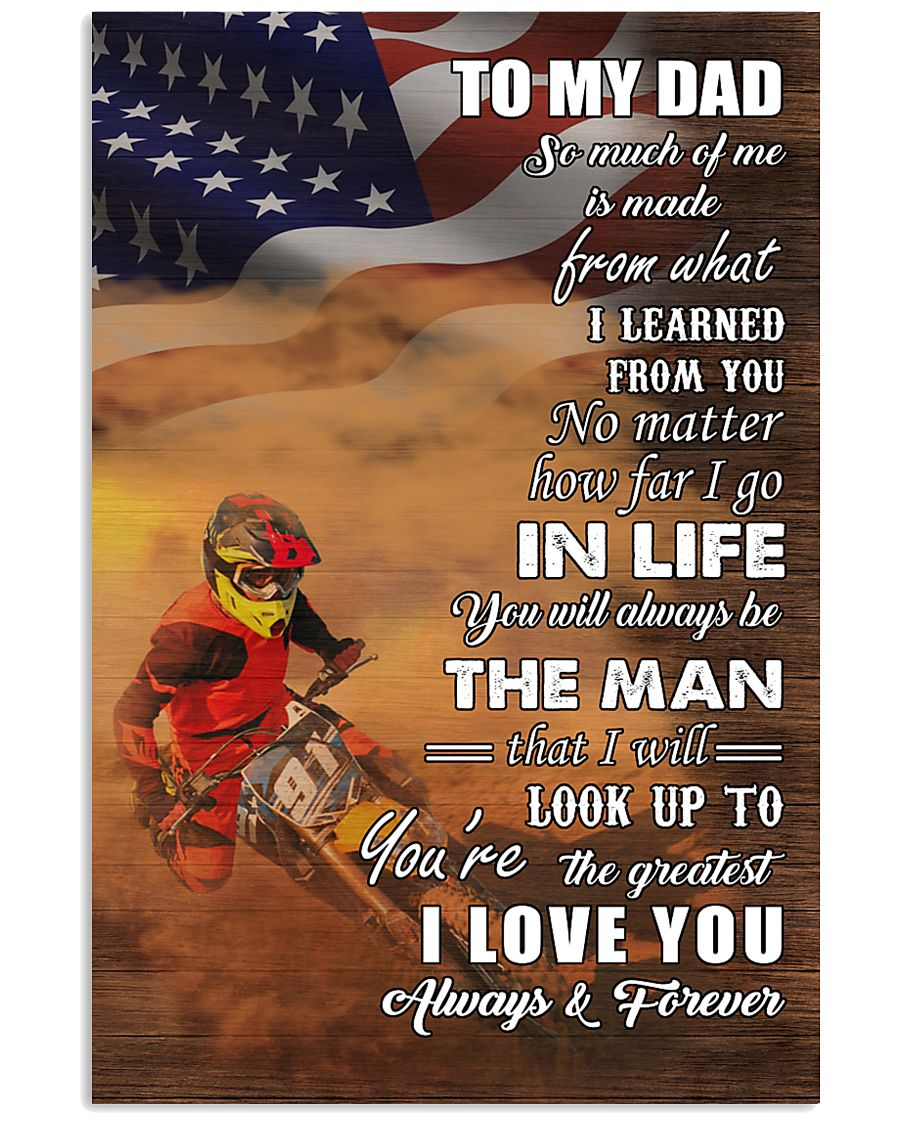 motocross - to my dad so much of me poster - SR 11x17 Poster