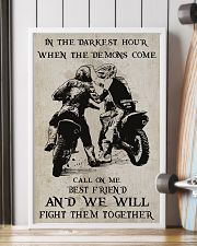 Motocross Fight Them Together Poster 11x17 Poster lifestyle-poster-4