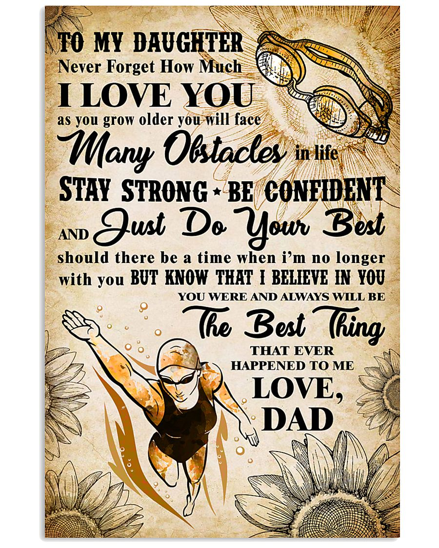 TO MY DAUGHTER - I LOVE YOU - Swim POSTER 11x17 Poster