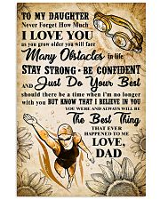 TO MY DAUGHTER - I LOVE YOU - Swim POSTER 11x17 Poster front