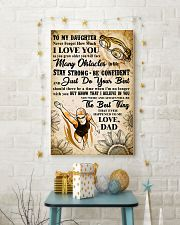 TO MY DAUGHTER - I LOVE YOU - Swim POSTER 11x17 Poster lifestyle-holiday-poster-3