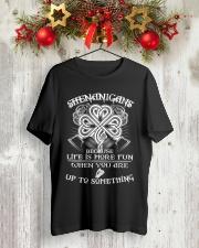 shenanigans Classic T-Shirt lifestyle-holiday-crewneck-front-2