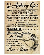 TO MY Archery Girl 16x24 Poster front