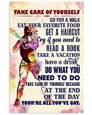 Take care of yourself - SOFTBALL 11x17 Poster front