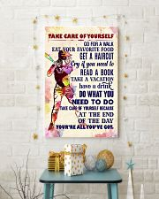 Take care of yourself - SOFTBALL 11x17 Poster lifestyle-holiday-poster-3