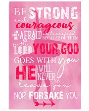 BE STRONG COURAGEOUS DO NOT BE AFRAID DANCE POSTER 16x24 Poster front