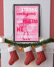 BE STRONG COURAGEOUS DO NOT BE AFRAID DANCE POSTER 16x24 Poster lifestyle-holiday-poster-4