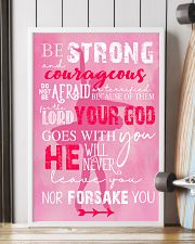 BE STRONG COURAGEOUS DO NOT BE AFRAID DANCE POSTER 16x24 Poster lifestyle-poster-4