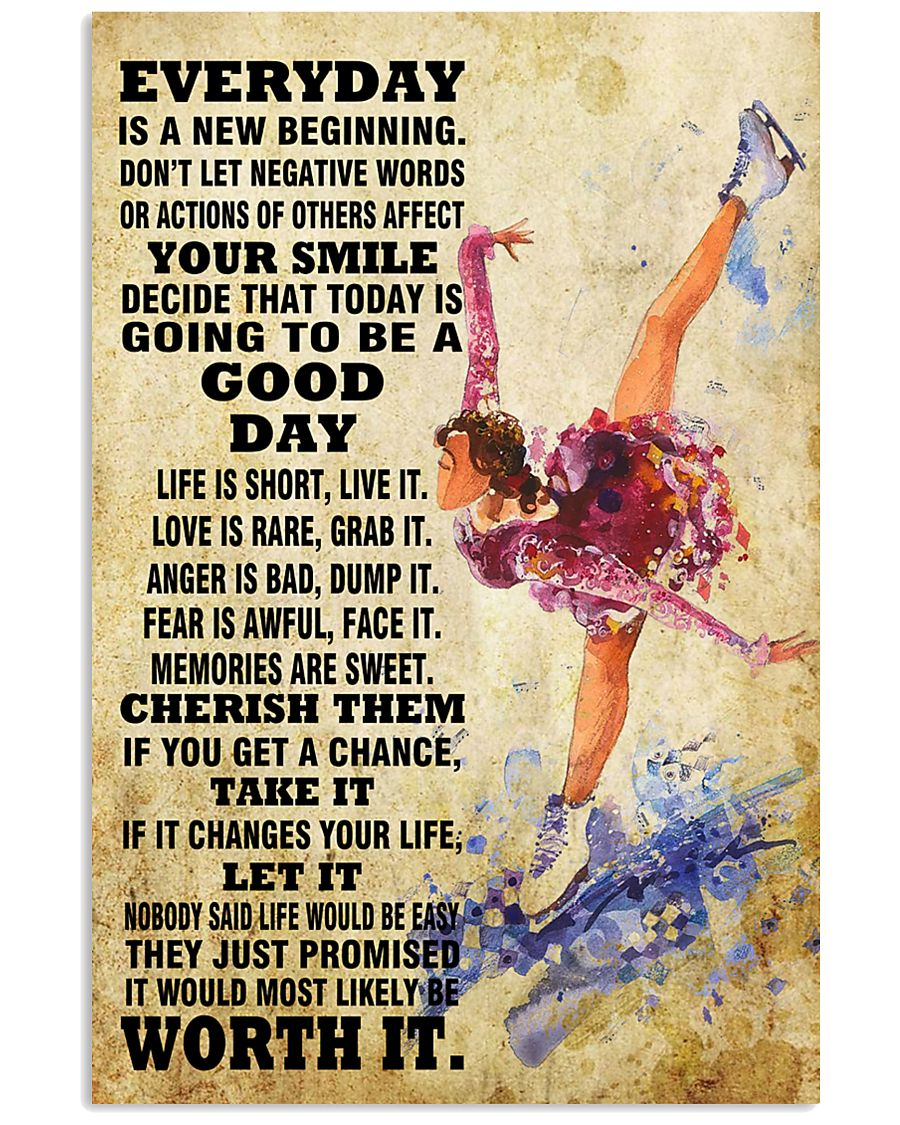 skating EVERYDAY IS A NEW 11x17 Poster