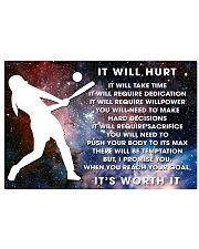 it will hurt softball 24x16 Poster front