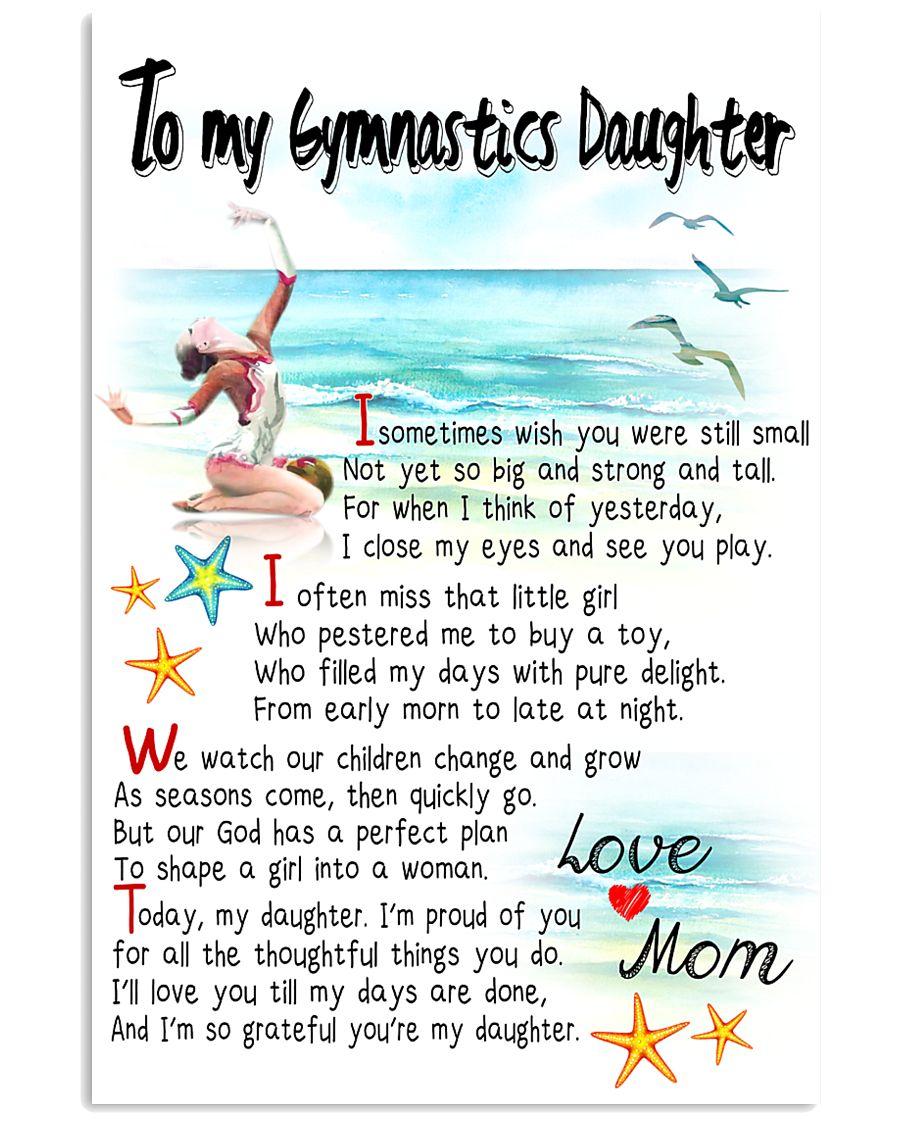 TO MY GYMNASTICS DAUGHTER - I SOMETIMES WISH 11x17 Poster