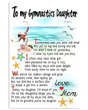 TO MY GYMNASTICS DAUGHTER - I SOMETIMES WISH 11x17 Poster front