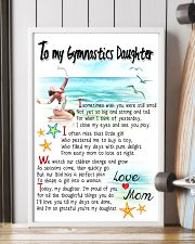 TO MY GYMNASTICS DAUGHTER - I SOMETIMES WISH 11x17 Poster lifestyle-poster-4