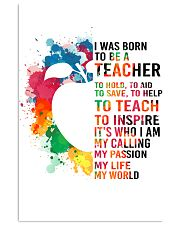 TEACHER- I WAS BORN 11x17 Poster front