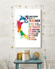 TEACHER- I WAS BORN 11x17 Poster lifestyle-holiday-poster-3