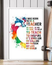 TEACHER- I WAS BORN 11x17 Poster lifestyle-poster-4